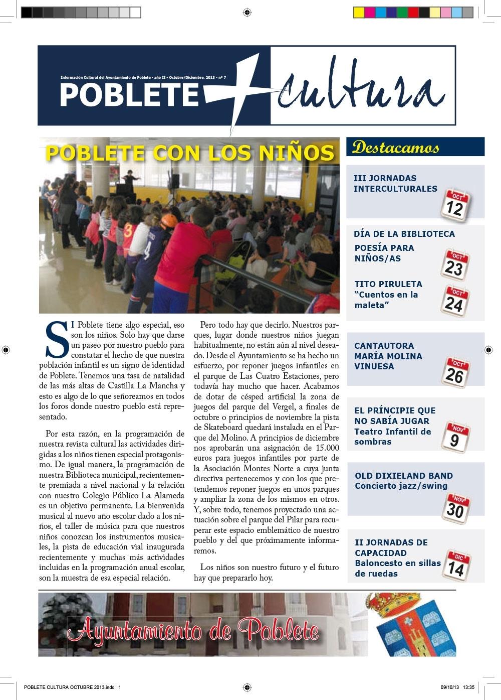 Portada de la revista Octubre 2013